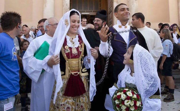 sardinia italy traditional wedding outfits from around the world wedding dress bride groom
