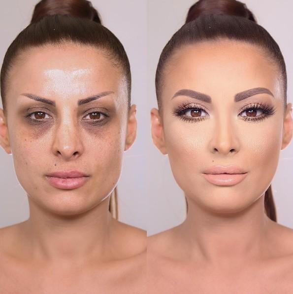 4. Никаких кругов под глазами до и после, до и после макияжа, макияж