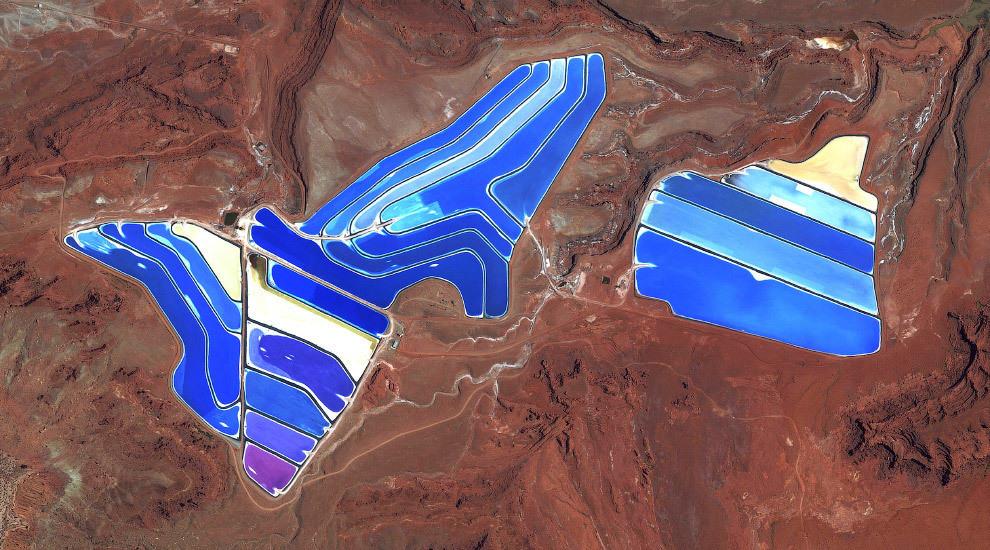 Калийный рудник в Моава, штат Юта, США