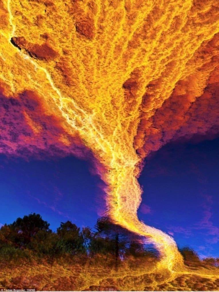 Этот феномен называют Огненным торнадо. оптические иллюзии, природа