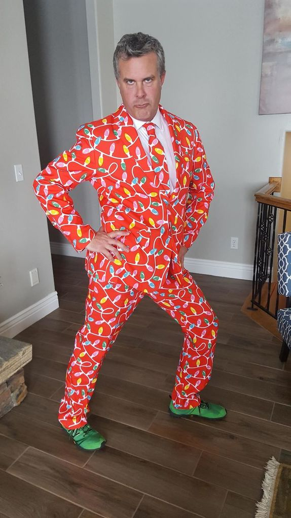 My Dad Is An Ob/gyn, And Was On-call For Christmas. This Is How He Went To Round On Patients This Morning.