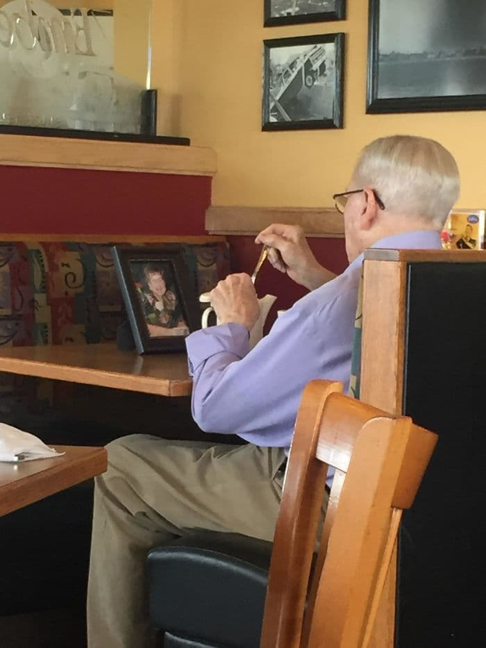 I Was Having Lunch With My Mom And This Gentleman Was Having Coffee With His Late Wife. Everyone Deserves To Have A Love This Strong