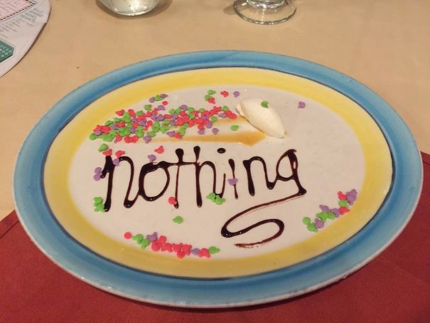 """Asked For """"Nothing"""" As Dessert On A Disney Cruise. Got This Masterpiece"""