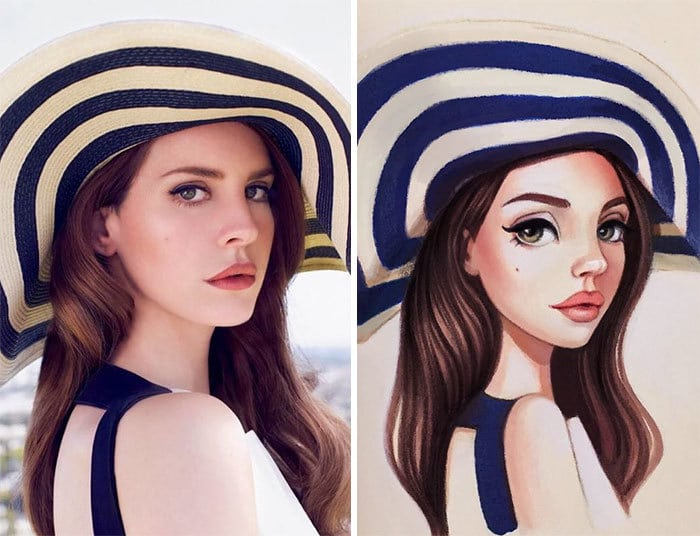 Russian Artist Draws Chic Portraits-cartoons Of Celebrities