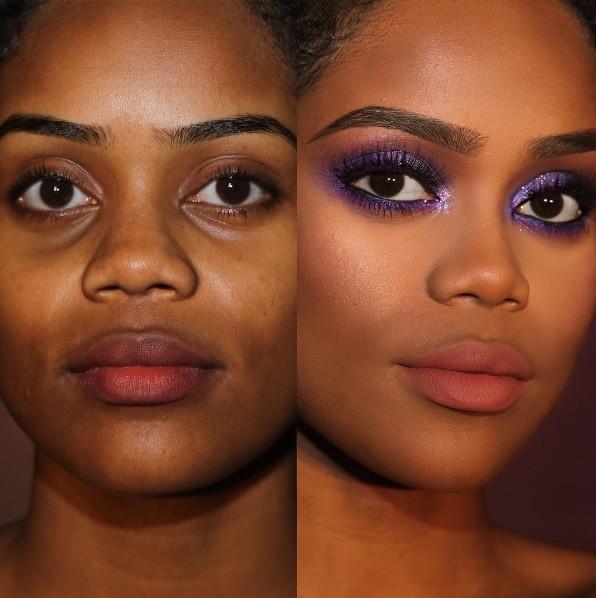 9. Гламурный имидж до и после, до и после макияжа, макияж
