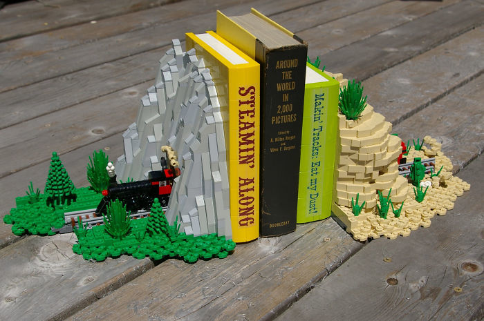 Lego Train Bookends
