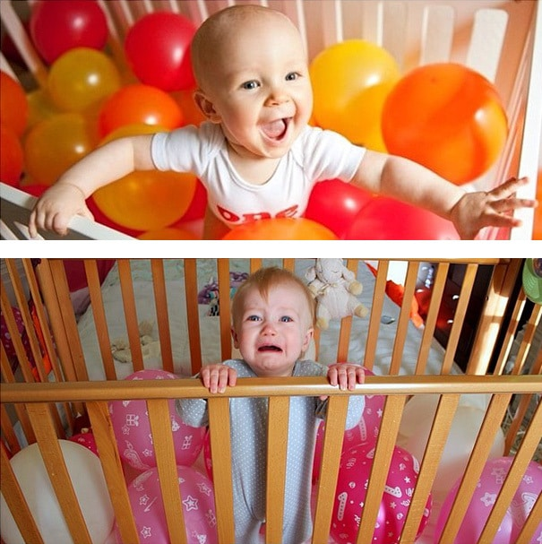 Baby With Balloons. Nailed It