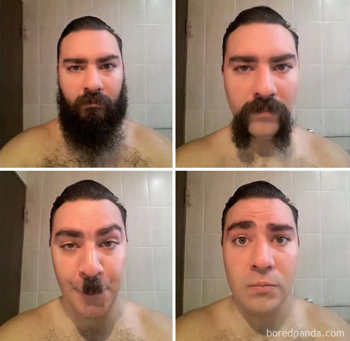 """A Friend Of Mine Shaved His Year-Long Beard And Recorded """"The Process"""""""