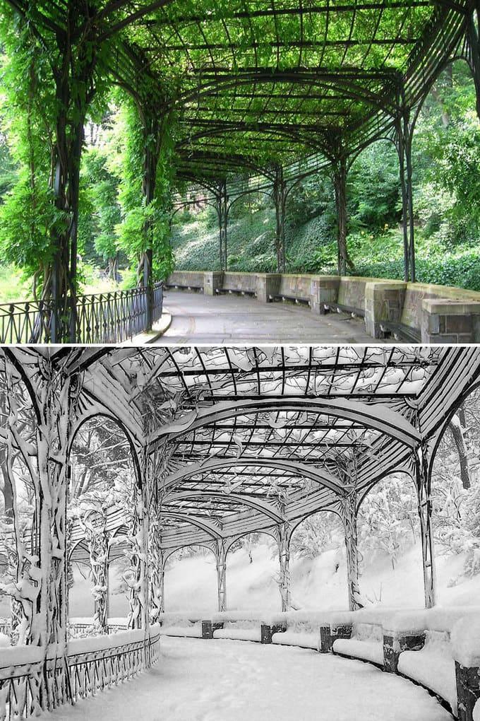 Pergola, Conservatory Garden, Central Park, New York, USA