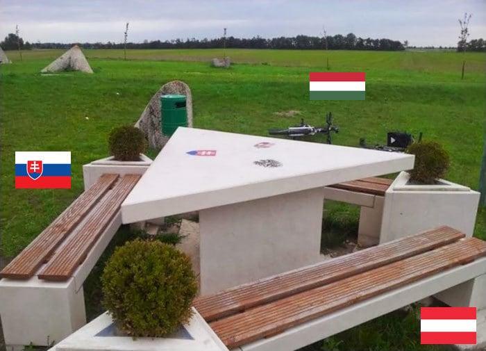Граница, которая находится на пересечении трех государств.