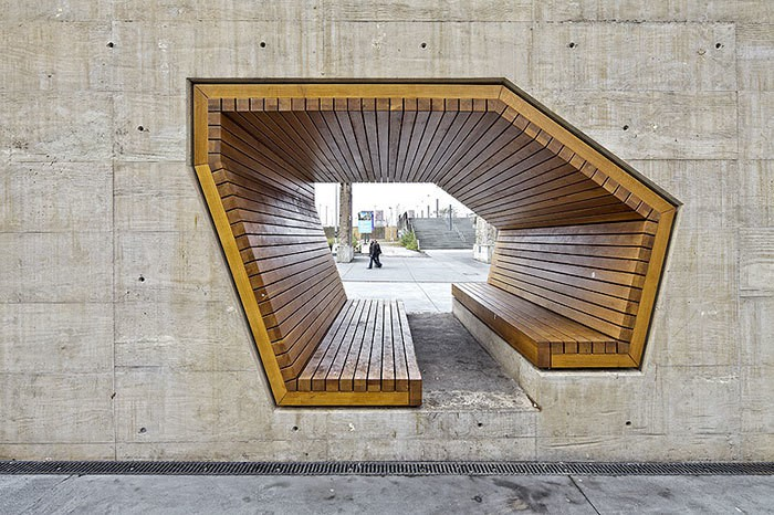 Bench By Alleswirdgut Architektur, Luxembourg