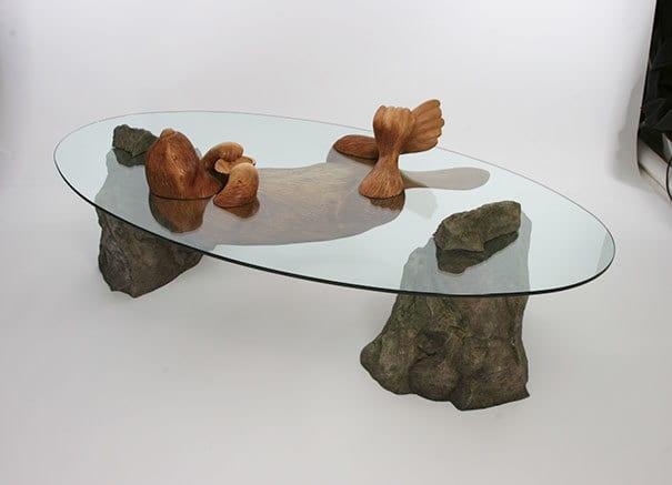 творческие Столы-вода-животных-Дерека-Pearce-8