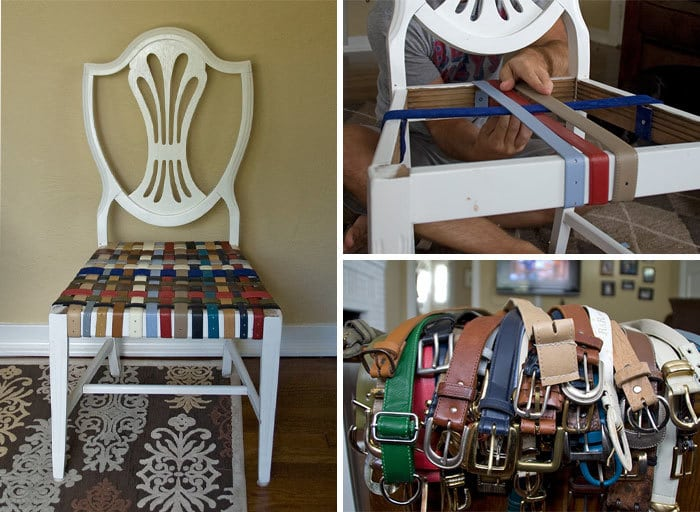 Open Bottom Chairs Have A Chance To Be Useful Again By Repairing Them With Tightened Belts