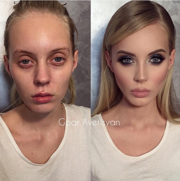 10. Ранимая красота до и после, до и после макияжа, макияж