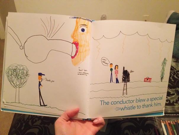 Сделал книгу для моего отца День отца. Моя 13 летняя сестра может использовать практиковать рисование свистки