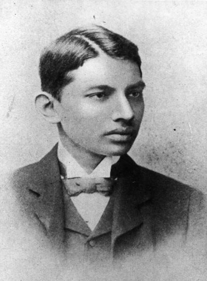 Mahatma Gandhi In 1887 As A Law Student