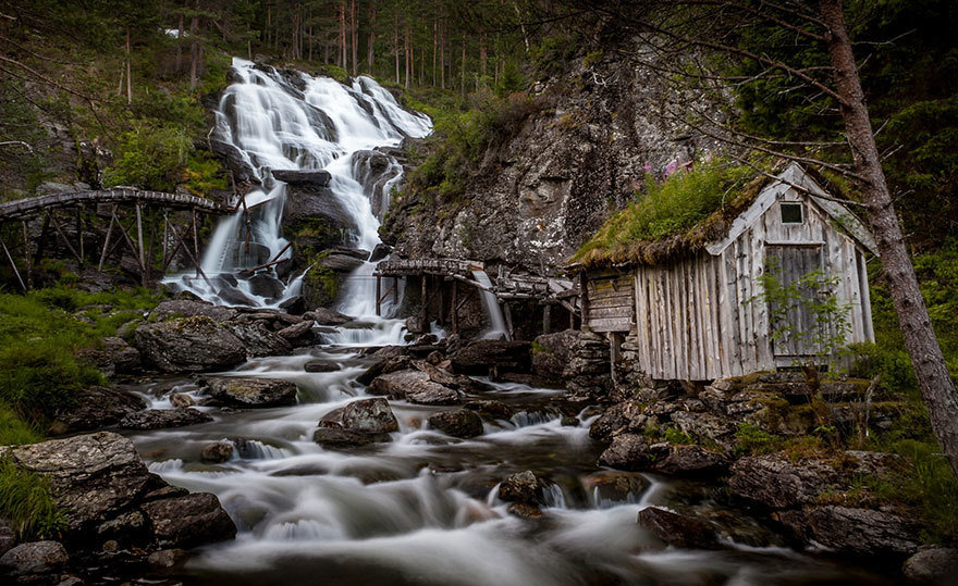 Kvednafossen Waterfall, Norway