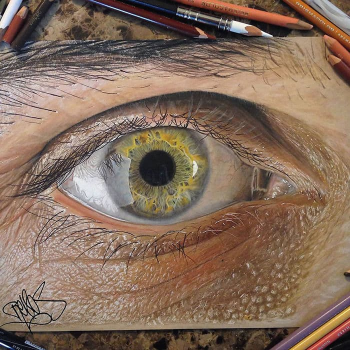 Colored Pencil Eye By Jose Vergara