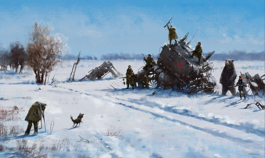 jakub-rozalski-1920-mech-on-the-field-100na70small