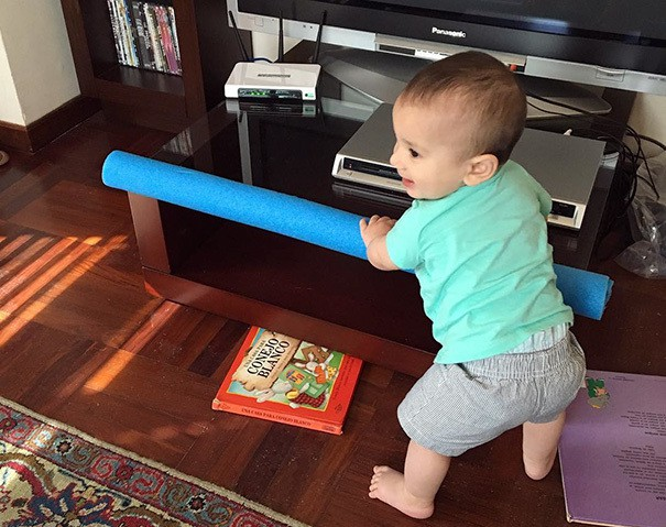 Use A Pool Noodle To Make The Edges Of Tables Safe For Your Kids