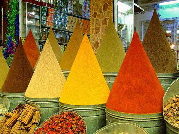 These Piles Of Spice At A Market In Marrakesh