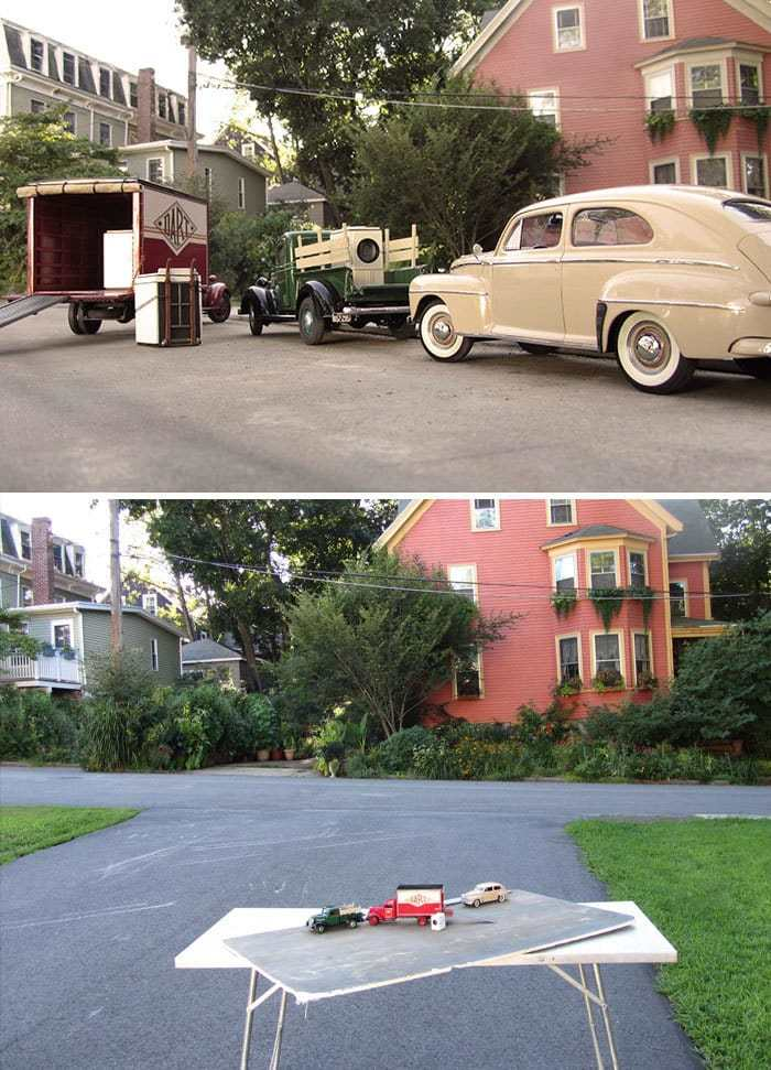 Miniature Car Models Create Realistic Historical Photos
