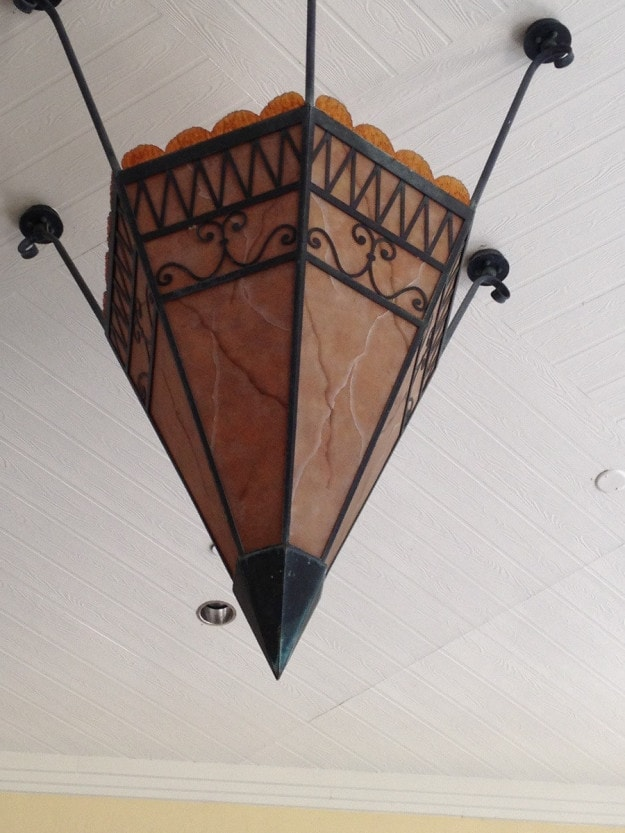 And these light fixtures that look like pencil points.