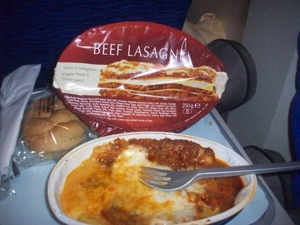 Aeroplane food in reality: