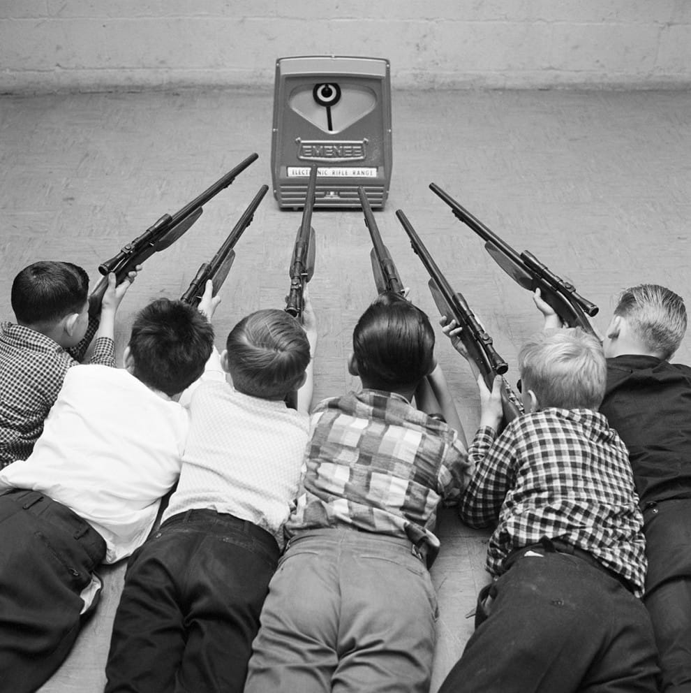 Electronic Rifle Range with scoped rifles included, 1962: