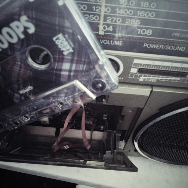 The agony of having to carefully untangle cassette tapes from the player.