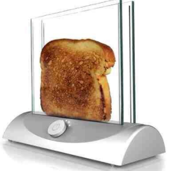 For breakfast, break out this toaster, which will ensure your toast has a nice view.