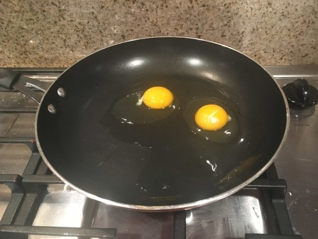 """I was trying to cook eggs in the pan but nothing was happening. I finally realized the stove wasn't on. I"