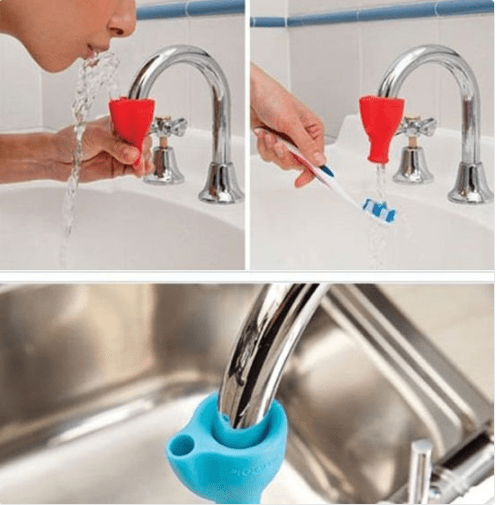 And there's this nozzle for those who want to create a water fountain/rinsing station in their bathroom.