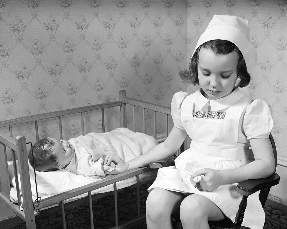 Terminally ill baby doll, circa 1945: