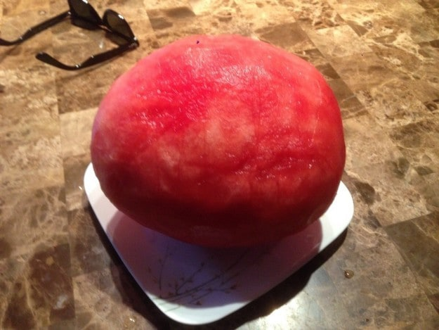 This gorgeously peeled watermelon: