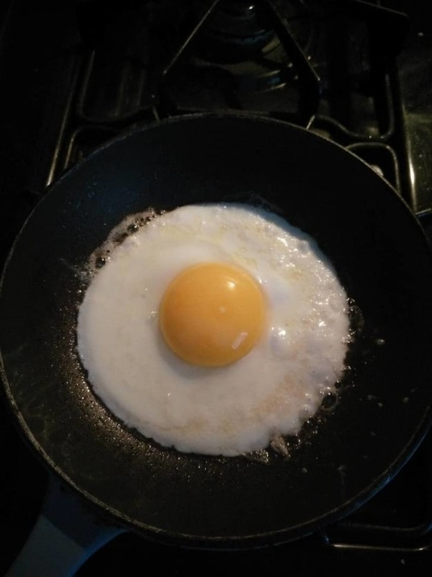 This textbook fried egg:
