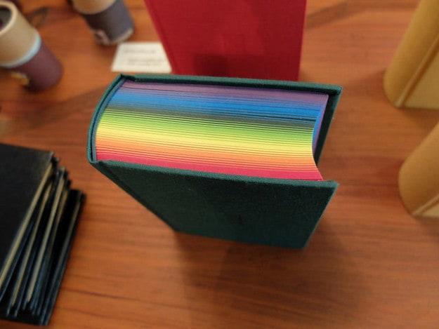 This rainbow notebook.