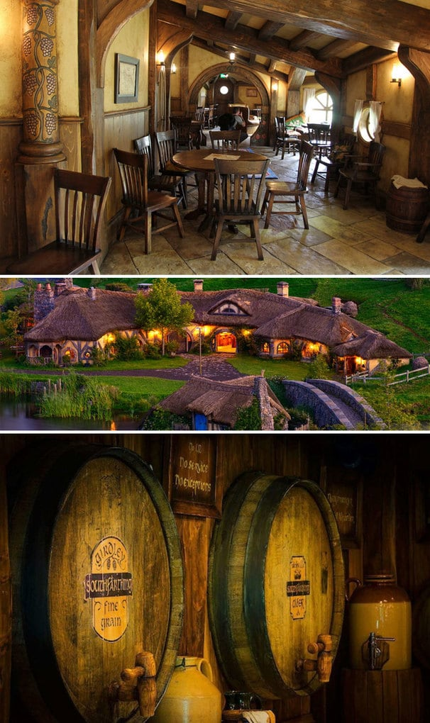 """A Place To Drink, A Place To Meet, A Place To Rest Your Hairy Feet."" The Green Dragon Pub In Hobbiton (New Zealand) Is A Perfect Place For A Real LOTR Fan"