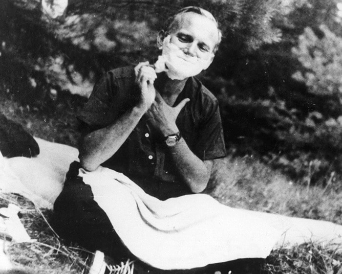 Pope John Paul II Shaving