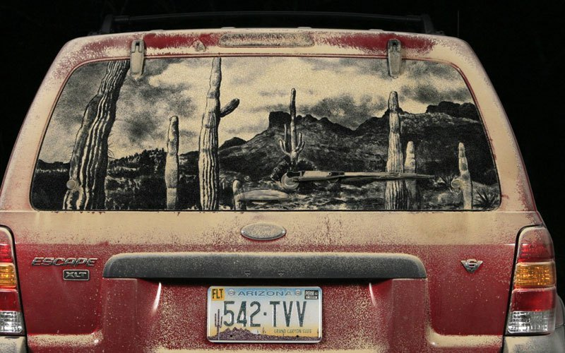 Художник превращает грязные автомобили в произведения искусства (4)