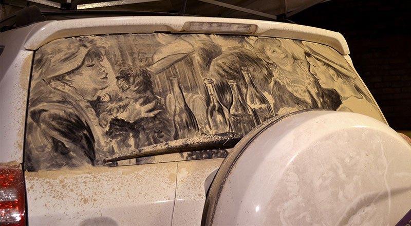 Художник превращает грязные автомобили в произведения искусства (7)