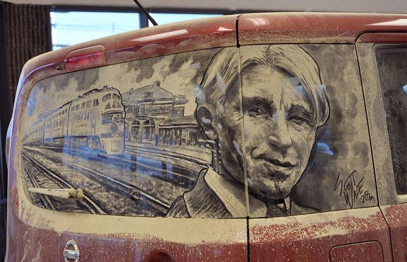 Художник превращает грязные автомобили в произведения искусства (14)
