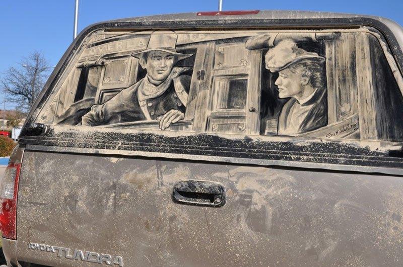 Художник превращает грязные автомобили в произведения искусства (15)