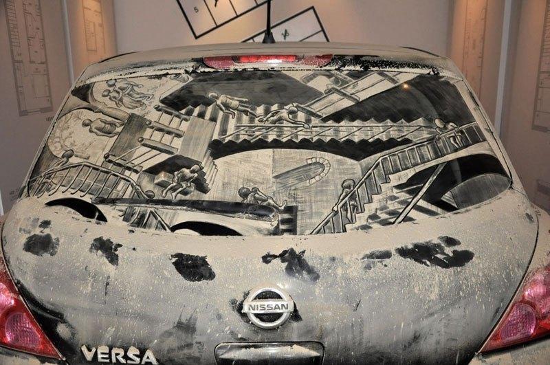 Художник превращает грязные автомобили в произведения искусства (6)