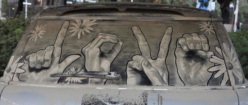 Художник превращает грязные автомобили в произведения искусства (11)