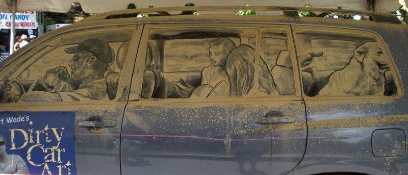 Художник превращает грязные автомобили в произведения искусства (1)