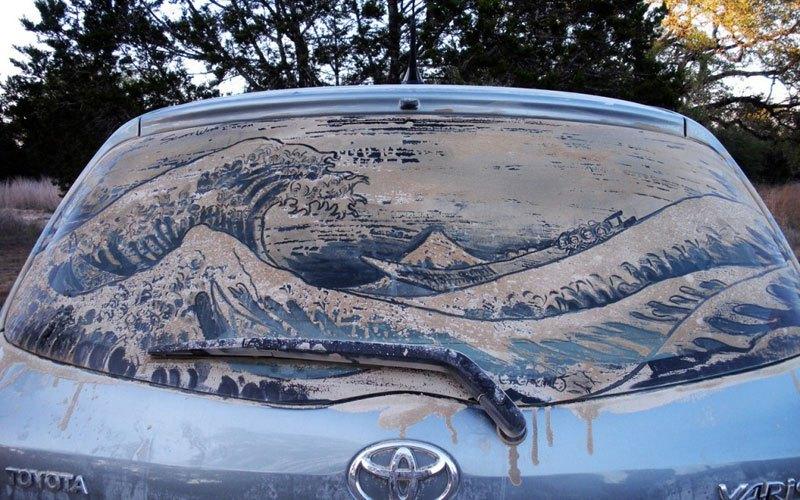 Художник превращает грязные автомобили в произведения искусства (10)