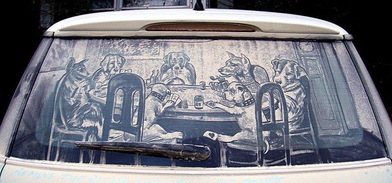 Художник превращает грязные автомобили в произведения искусства (13)