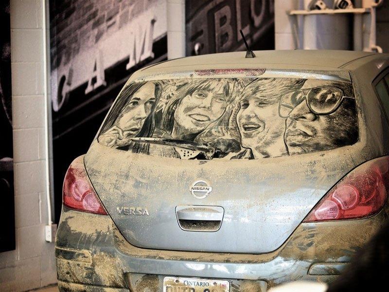 Художник превращает грязные автомобили в произведения искусства (2)