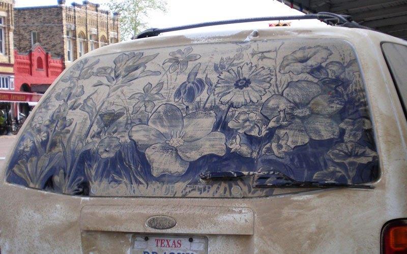 Художник превращает грязные автомобили в произведения искусства (16)